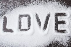 Amore dello zucchero Immagine Stock