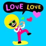 Amore di amore di afro Immagini Stock
