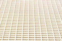 Amore di amore di amore Immagini Stock