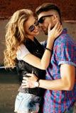 Amore di bacio Fotografie Stock