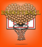Amore di basketbal Fotografie Stock
