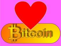 Amore di Bitcoin - acceptence Fotografie Stock