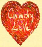 Amore di Candy del cuore del mosaico Fotografie Stock Libere da Diritti