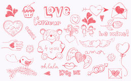 Amore di Doodle Fotografie Stock Libere da Diritti