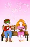 Amore di giorno dei biglietti di S. Valentino Fotografia Stock Libera da Diritti