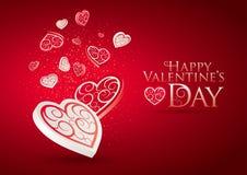 Amore di giorno del biglietto di S. Valentino illustrazione vettoriale