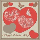 Amore di giorno del ` s del biglietto di S. Valentino - raccolta dei fiori Fotografia Stock