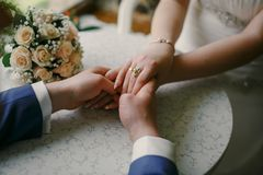 Amore di giorno delle nozze il mio giorno Immagine Stock Libera da Diritti