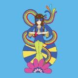 Amore di hippy royalty illustrazione gratis
