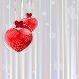 Amore di inverno Fotografia Stock