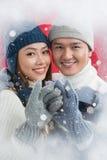 Amore di inverno Fotografie Stock