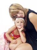 Amore di madre il suo douther Fotografia Stock