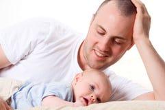 Amore di padre Fotografie Stock
