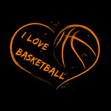 Amore di pallacanestro Fotografie Stock