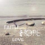 Amore di speranza di fede Fotografie Stock