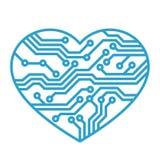 Amore di tecnologia Immagine Stock