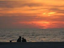 Amore di tramonto Immagini Stock