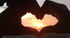 Amore di tramonto fotografie stock libere da diritti