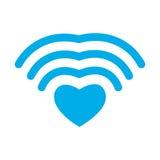 Amore di Wi-Fi Cuore di WiFi Comunicazione senza fili per gli amanti romano Fotografie Stock