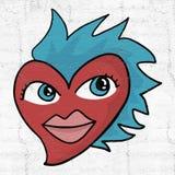 Amore divertente del cuore royalty illustrazione gratis