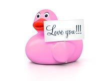 Amore Ducky di gomma voi Fotografia Stock