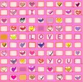 Amore e cuori Fotografia Stock Libera da Diritti