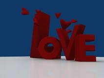 Amore e cuori Fotografie Stock Libere da Diritti