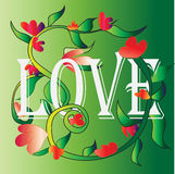 Amore e fiori Fotografia Stock
