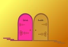 Amore e odio Fotografia Stock