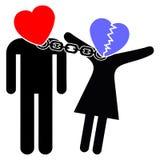 Amore e ossessione Fotografia Stock