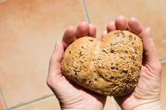 Amore e passione per pane integrale Fotografia Stock Libera da Diritti