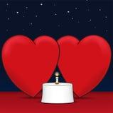 Amore e pranzo Immagine Stock