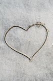 Amore e sabbia Fotografia Stock