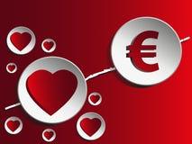 Amore e soldi Fotografia Stock Libera da Diritti
