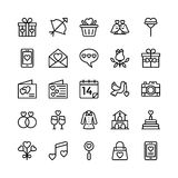 Amore e Valentine Line Vector Icons 8 Fotografie Stock