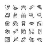 Amore e Valentine Line Vector Icons 11 Fotografia Stock