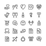 Amore e Valentine Line Vector Icons 12 Fotografie Stock