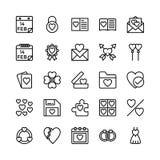Amore e Valentine Line Vector Icons 13 illustrazione vettoriale