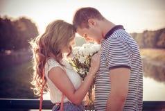Amore ed affetto fra una coppia Immagine Stock Libera da Diritti