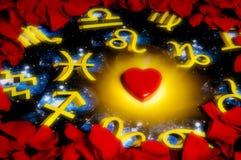 Amore ed astrologia Fotografia Stock Libera da Diritti