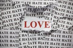 Amore ed avversione Fotografia Stock Libera da Diritti