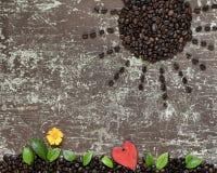 Amore ed energia di caffè Immagine Stock