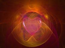 Amore ed indicatore luminoso Fotografia Stock Libera da Diritti