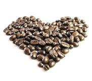 Amore fatto dai chicchi di caffè Fotografie Stock Libere da Diritti