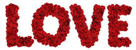 AMORE fatto delle rose Fotografia Stock