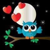 Amore felice di giorno di biglietti di S. Valentino romanzesco royalty illustrazione gratis