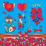 Amore fissato per riconoscimento il giorno del biglietto di S. Valentino Fotografia Stock