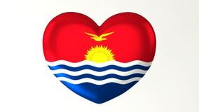 Amore in forma di cuore Kiribati dell'illustrazione I della bandiera 3D royalty illustrazione gratis