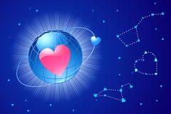 Amore globale/biglietto di S. Valentino o cerimonia nuziale/vettore Fotografia Stock Libera da Diritti