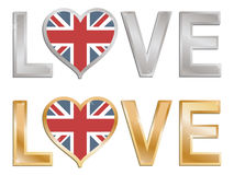 Amore Gran Bretagna Fotografia Stock Libera da Diritti
